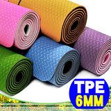 【SAN SPORTS 】環保TPE 6MM雙色瑜珈墊(加長版)(贈送瑜珈背袋) C155-159