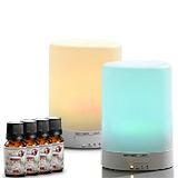 (二選一)【Warm】燈控/定時超音波負離子水氧機W-116 2代機+碼送單方純精油10MLX4瓶及薰香瓶X1