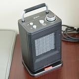 唐姆笙陶瓷金屬殼電暖器(黑色)TH-1029B