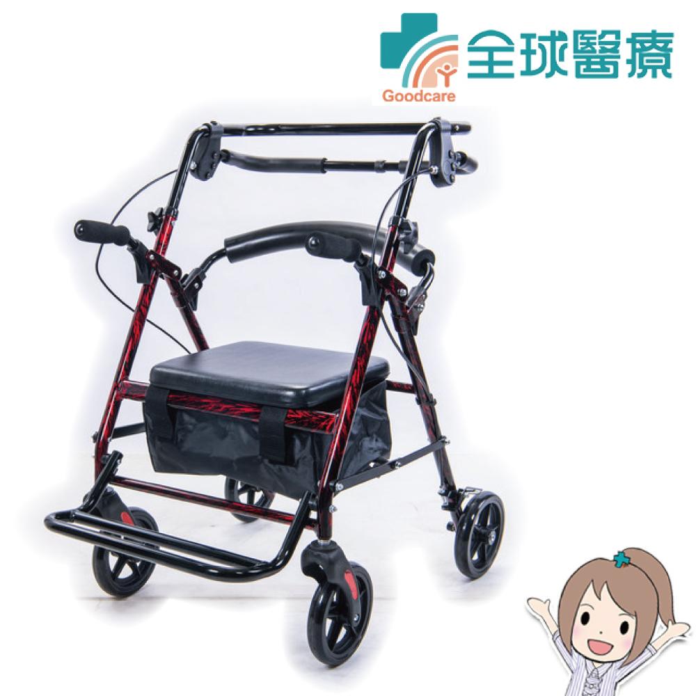 【全球醫療】均佳 機械式助行器(未滅菌) JK-006 鋁合金四輪助行車 推車型