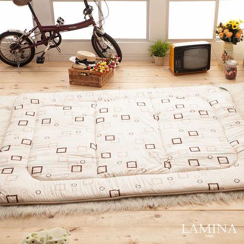LAMINA  羊毛方塊日式床墊(米)5CM-雙人
