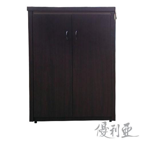 【優利亞-絕美雙色】2.5尺對開鞋櫃(2色可選)