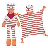 美國【Apple Park】農場好朋友系列 - 有機棉玩偶+安撫巾