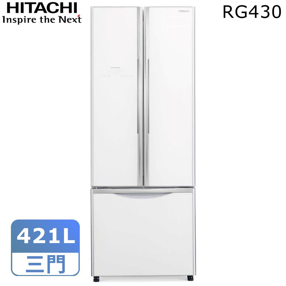 【結帳優惠】HITACHI日立421公升大三門變頻冰箱RG430