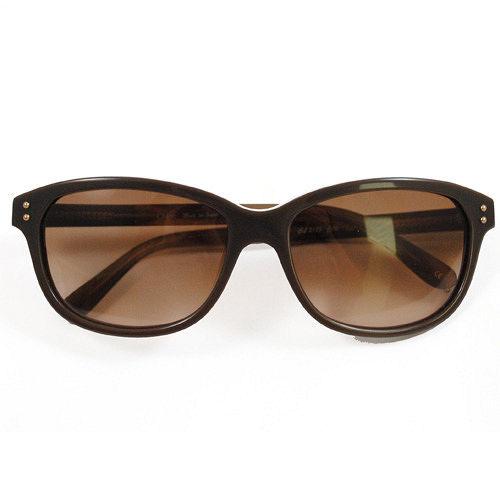 CHLOE 2185-02 復古時尚雙色膠框漸層鏡面太陽眼鏡/墨鏡.咖