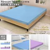 LooCa美國Microban抗菌3cm記憶床墊-單人