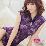 【天使霓裳】艷紫迷惑 性感旗袍裝 情趣角色服(深紫)