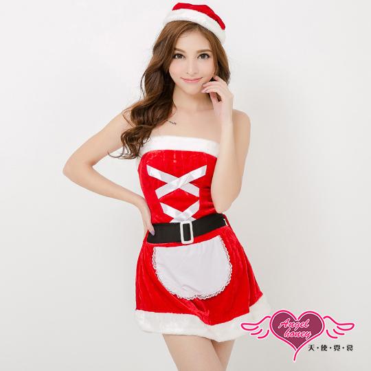 【天使霓裳】聖誕甜心女僕 狂熱聖誕舞會 耶誕服 角色服(紅)