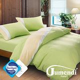 【Jumendi-水鑽之星.綠】台灣製防蹣抗菌被套床包組-雙人