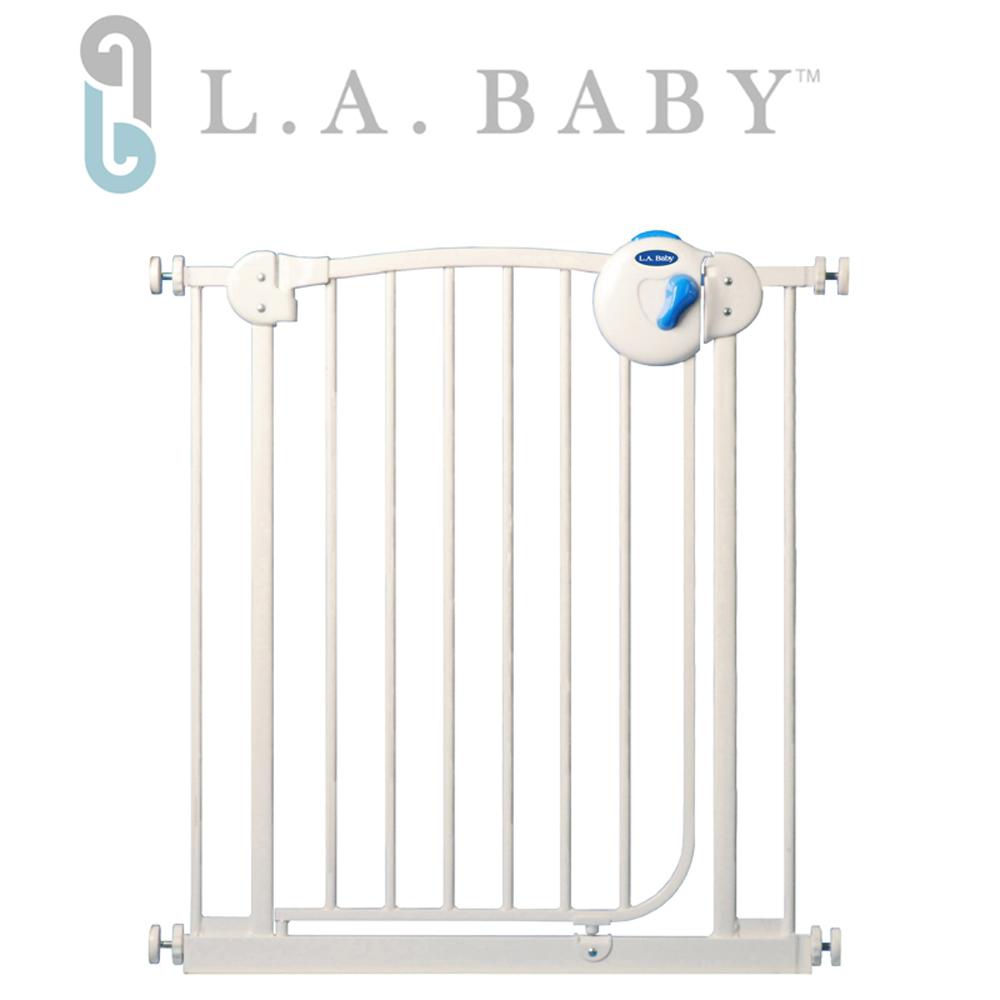 L.A. Baby 美國加州貝比 雙向安全自動上鎖鐵門欄/寵物門欄/幼兒門欄(三道安全鎖裝置)