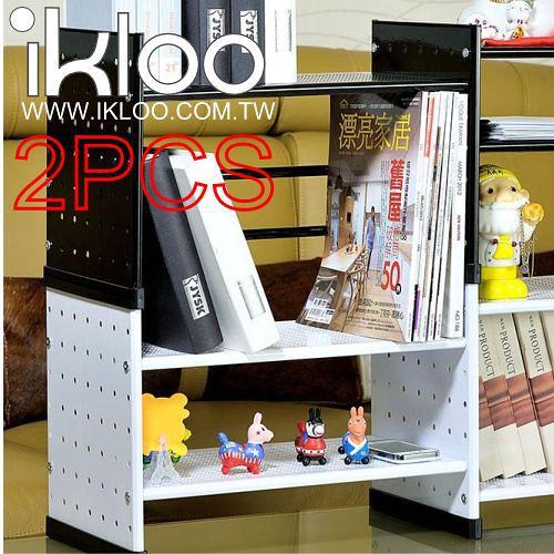 N 整理收納 IKLOO貴族風組合式書架(白)OA125-2入裝-9712 收納書架用品