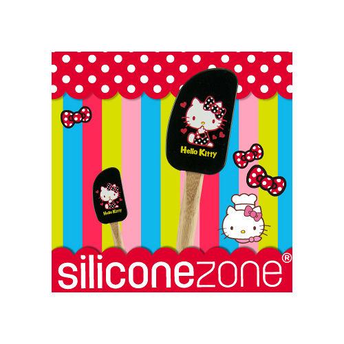 【Siliconezone】施理康Hello Kitty奶油刮刀-黑