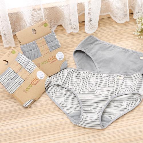 【黛安芬】eco chic 竹炭原棉系列 褲包兩件組M-EL(竹炭條紋)