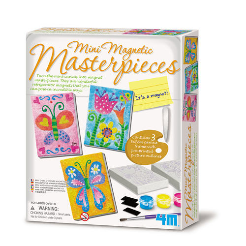 【4M】Mini Magnetic Masterpieces 迷你版畫磁鐵