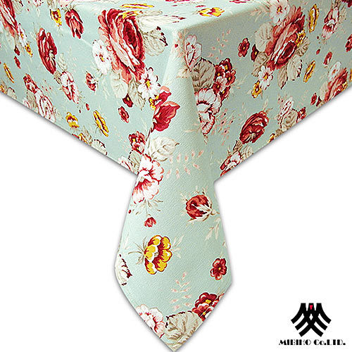 《M.B.H─玫瑰花園》純棉防潑水桌巾(綠)(140x180cm)