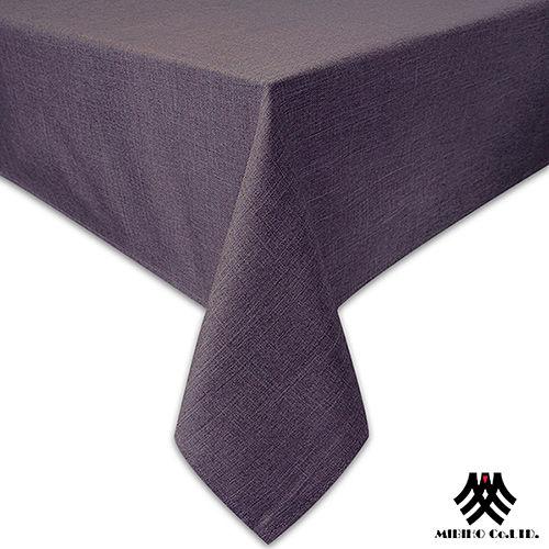 《M.B.H─極簡大地》精緻防潑水桌巾(深咖)(140x180cm)