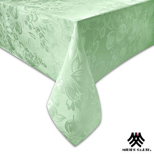 《M.B.H─水果花園》緹花防潑水桌巾(淺綠)(140x230cm)