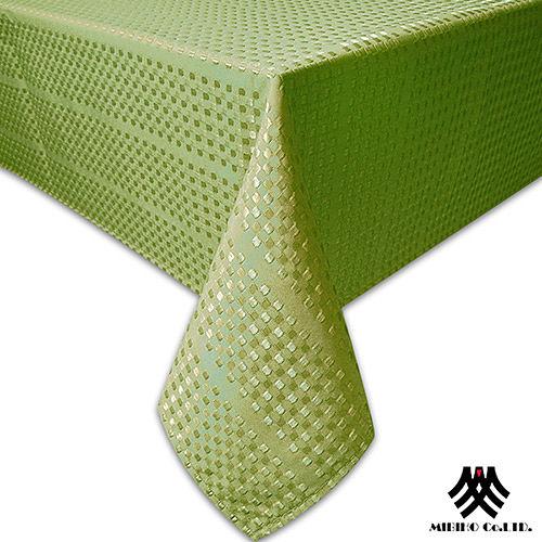 《M.B.H─莫卡小格》緹花防潑水桌巾(綠)(140x180cm)