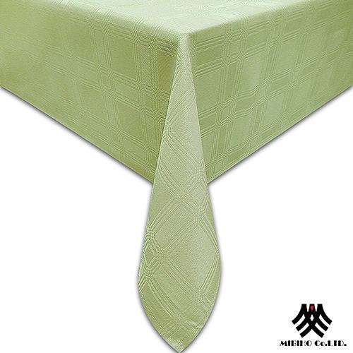 《M.B.H─夢幻方格》緹花防潑水桌巾(草綠)(140x180cm)