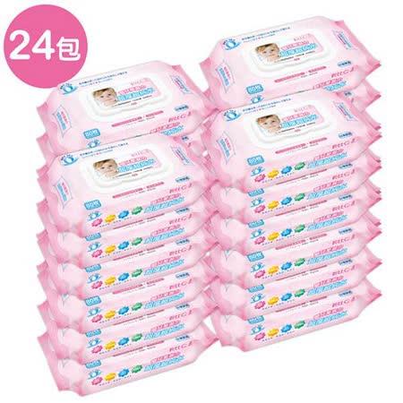 【貝比Q】EDI超厚超純水柔濕巾/80抽x24包