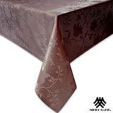 《M.B.H─香水百合》緹花防潑水桌巾(深咖)(140x180cm)