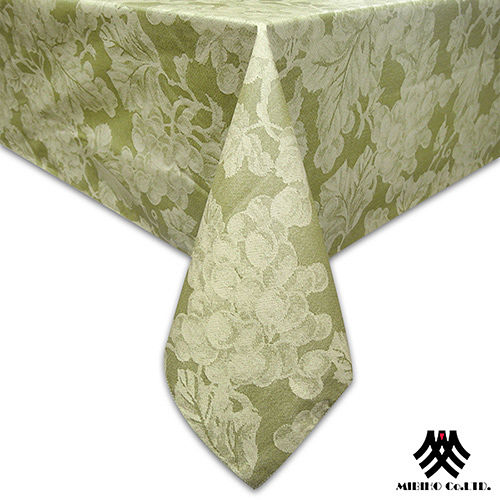 《M.B.H─葡萄藤蔓》PVC防水桌巾(淺綠)(132x132cm)
