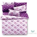 GOLDEN-TIME【凡爾賽莊園-紫】雙人四件式兩用被床包組