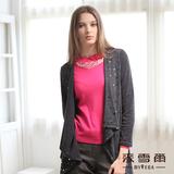 【麥雪爾】都會時尚~垂斜自然開襟閃爍披肩外套-共兩色