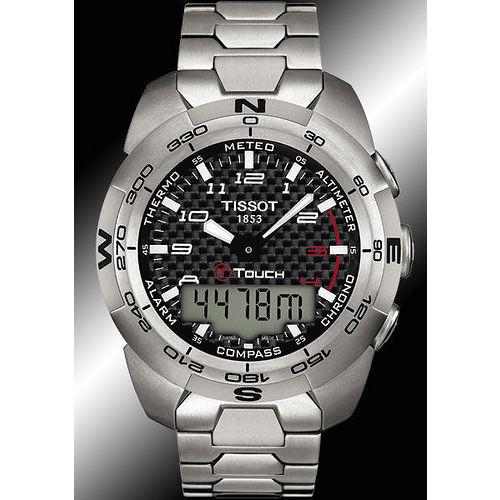 TISSOT T-TOUCH Expert 鈦合金觸控多功能錶-鍊帶 T0134204420200