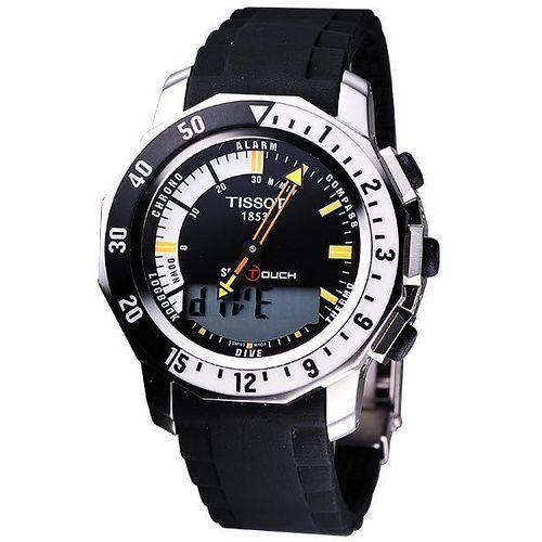 TISSOT SEA-TOUCH 觸控多功能潛水膠帶錶-黑 T0264201728100