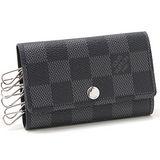 Louis Vuitton LV N62662 Damier 黑棋盤格紋六孔鑰匙包 現貨