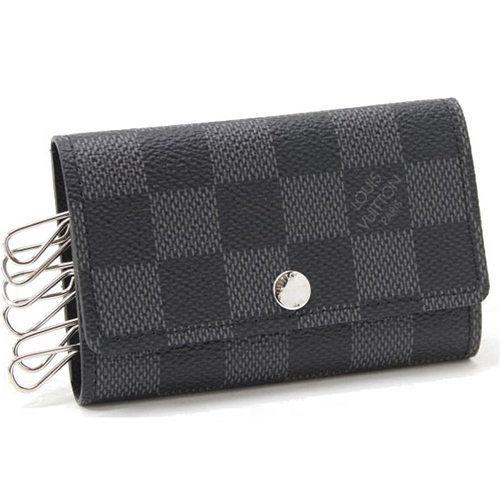 Louis Vuitton LV N62662 Damier 黑棋盤格紋六孔鑰匙包_現貨