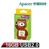 Apacer宇瞻「麻吉動物園」AH171 16GB OTG隨身碟 蜂蜜熊