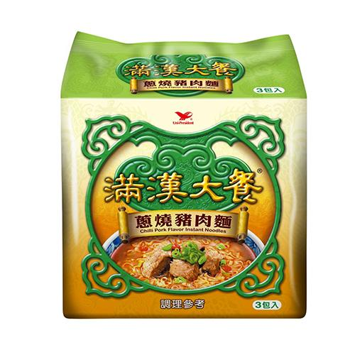 統一滿漢大餐蔥燒豬肉麵x3入