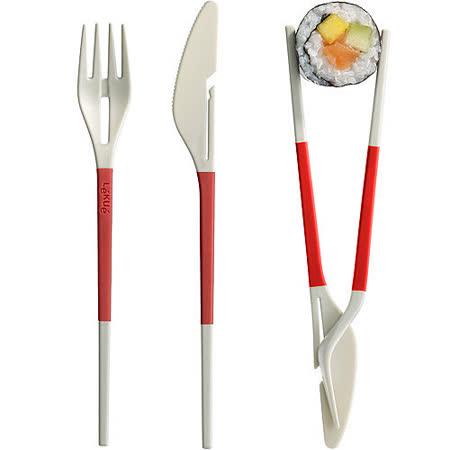 LEKUE 3in1餐具(紅)