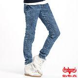 【BOBSON】女款30度雪俏小直筒褲(藍53)