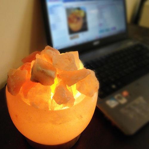 【Naluxe】義大利設計水晶鹽燈-精巧聚寶盆(特價品)