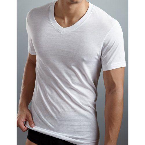 2XIST 2014時尚V領短袖白色內衣3件組【預購】