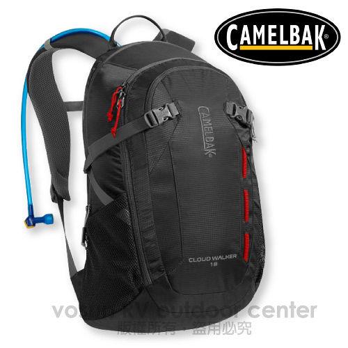 【美國 CAMELBAK】最新款 Cloud Walker 18L 超輕耐磨水袋背包(附2L水袋)_可當攻頂包.適自行車.越野跑步.登山健行/炭灰 CB62180
