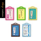 珠友 NA-20023 直式雙層識別證套/識別證件套/出入証套/工作證套,可用於車票卡/悠遊卡/識別證/信用卡套