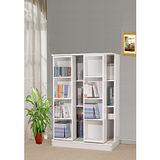 【空間生活】全新小尺寸日式雙排活動書櫃(白)