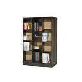 【空間生活】全新小尺寸日式雙排活動書櫃(胡桃木)
