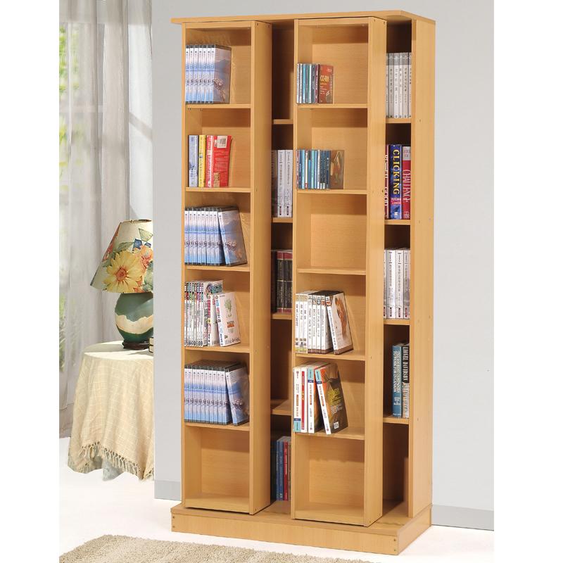 大容量 省空間 雙排活動書櫃