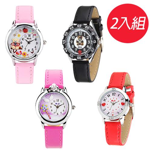 【Chimon Ritz】韓國MINI手工軟陶創意手錶-多款可選(2入組)