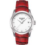 【TISSOT天梭】TISSOT天梭T0352101601101 建構師優雅經典石英腕錶/白面32mm(T0352101601101)