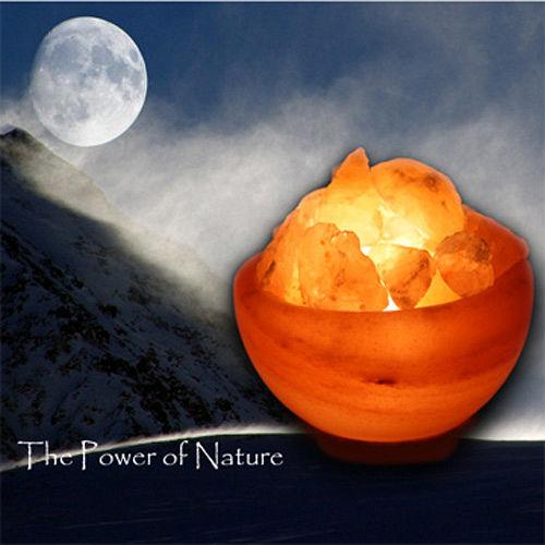 【Naluxe】義大利設計水晶鹽燈-聚寶盆(特價品)