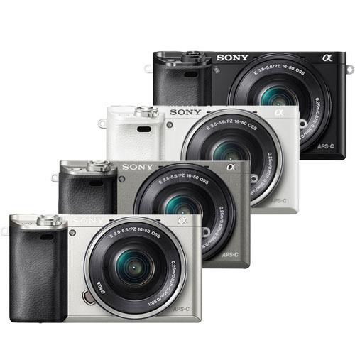 SONY A6000L 16-50mm變焦鏡組(公司貨)-送128G卡+專用鋰電池x2+專用座充+遙控器+相機包+HDMI+吹球拭鏡筆清潔組+熱靴蓋水平儀+UV保護鏡