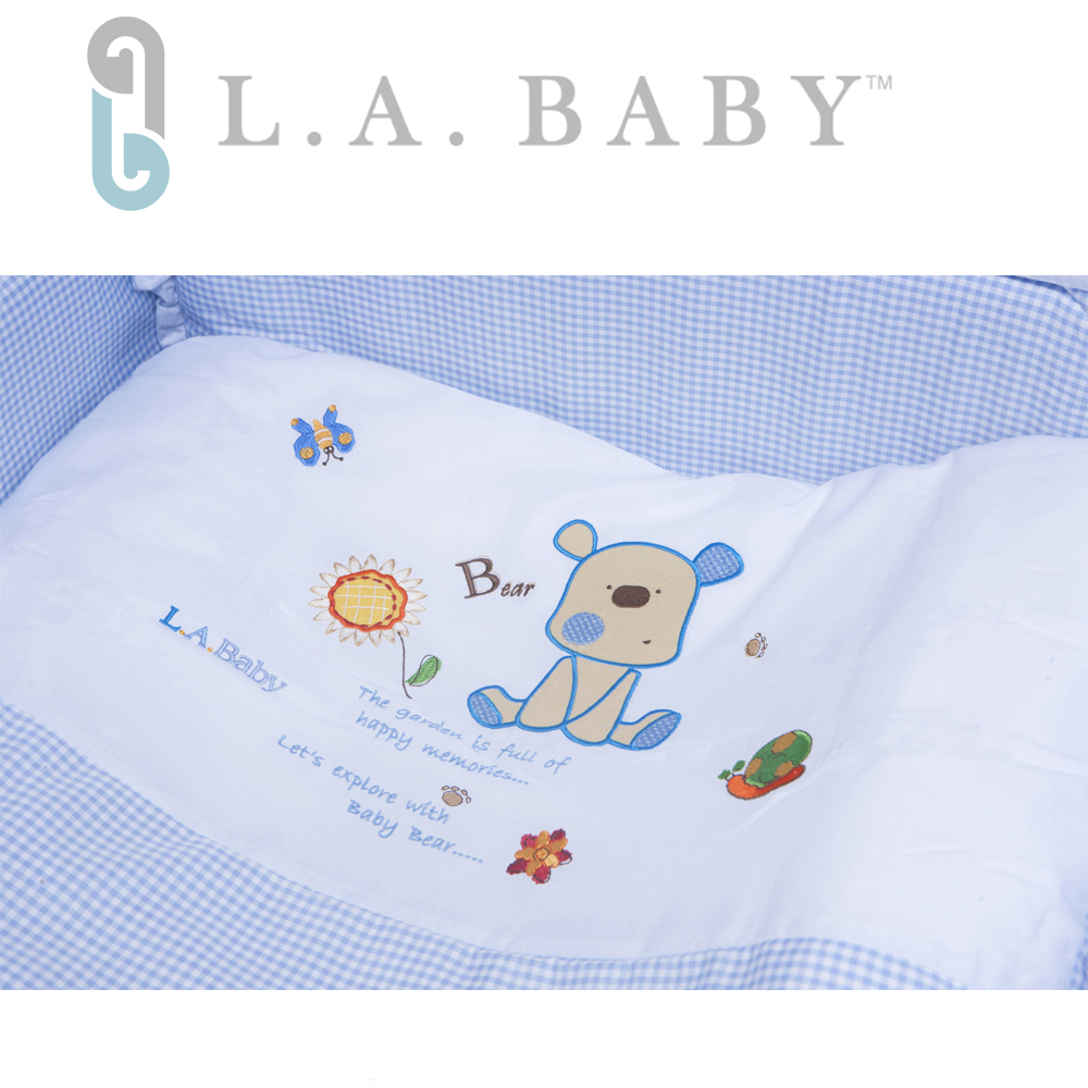 L.A. Baby 美國加州貝比 向日葵花園MIT純棉七件套寢具組- L (藍色/粉色/咖啡色)