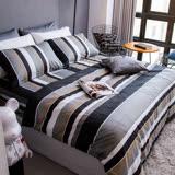 OLIVIA 《 北歐簡約 灰 》 標準單人床包鋪棉冬夏兩用被套組 都會簡約系列