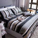 OLIVIA 《北歐簡約 灰》加大雙人床包鋪棉冬夏兩用被套組 都會簡約系列